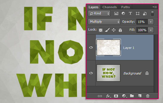 Low-Poly Text Effect step 5