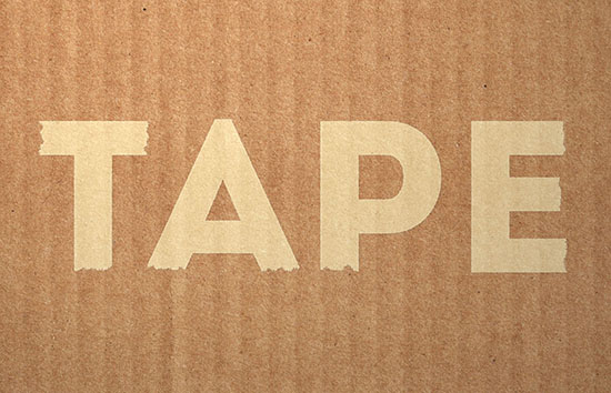 Masking Tape Text Effect