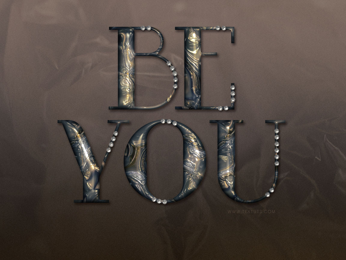 how to make text metallic in photoshop