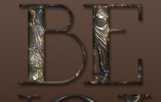 Metallic Marble Text Effect step 4