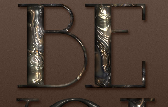 Metallic Marble Text Effect step 5
