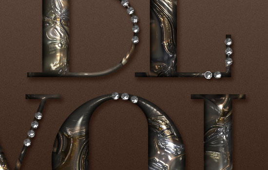 Metallic Marble Text Effect step 6