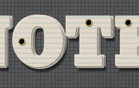 Note Cards Text Effect step 5