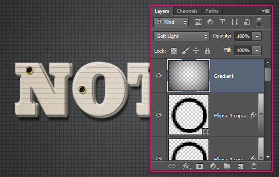 Note Cards Text Effect step 7