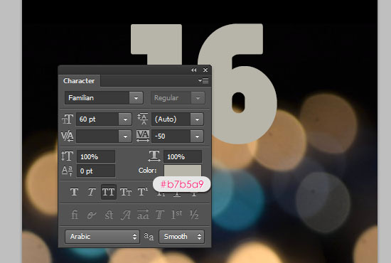 Number Candles Text Effect step 1