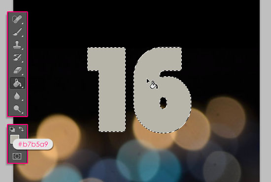 Number Candles Text Effect step 2