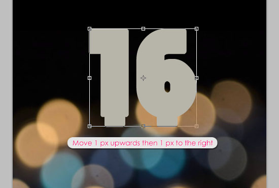 Number Candles Text Effect step 4