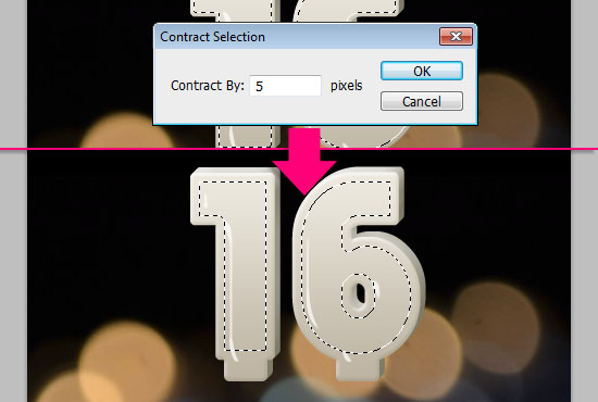 Number Candles Text Effect step 6