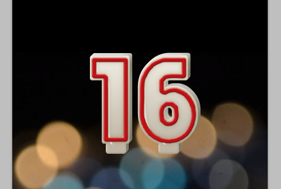 Number Candles Text Effect step 8