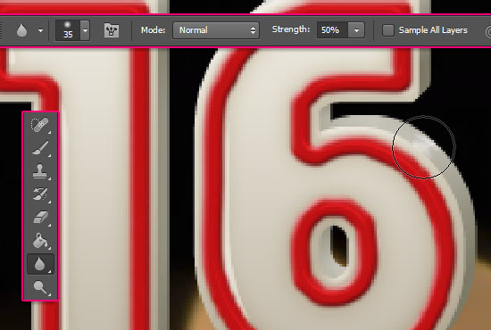 Number Candles Text Effect step 9