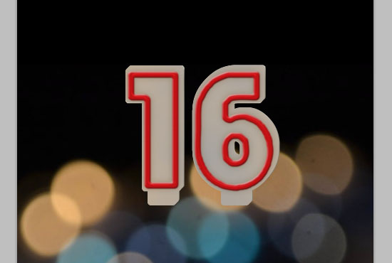 Number Candles Text Effect step 10