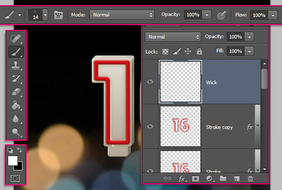 Number Candles Text Effect step 11
