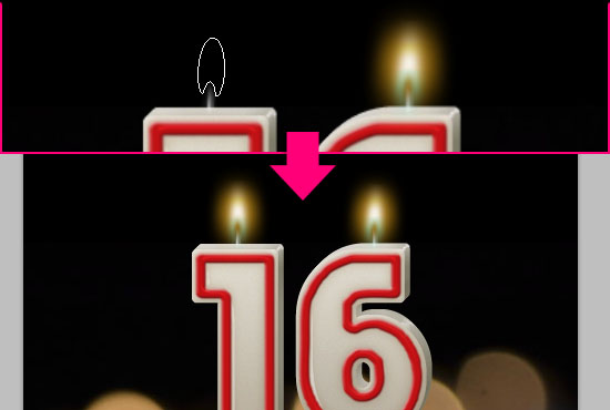 Number Candles Text Effect step 14