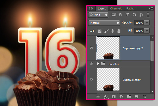 Number Candles Text Effect step 18