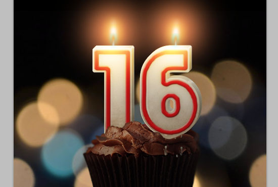 Number Candles Text Effect step 20
