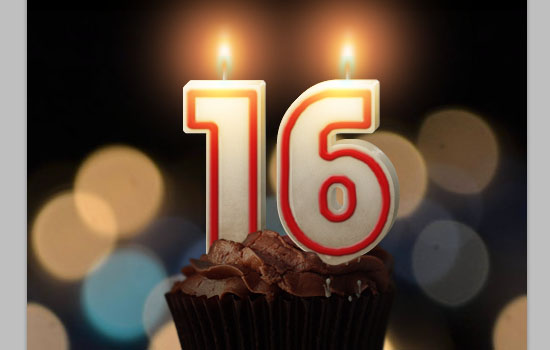 Number Candles Text Effect step 21