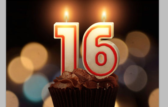 Number Candles Text Effect step 22