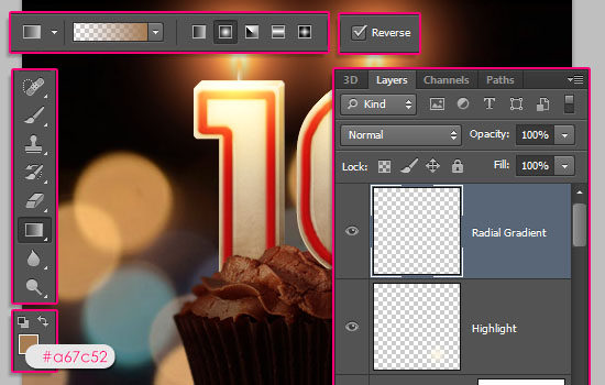 Number Candles Text Effect step 23