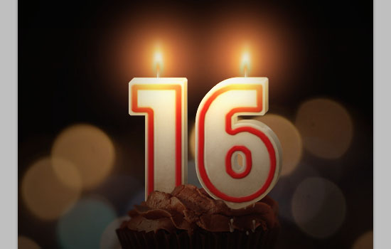 Number Candles Text Effect step 24
