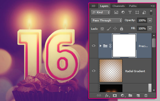 Number Candles Text Effect step 25