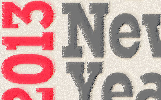 Simple New Year Typographic Poster Text Effect