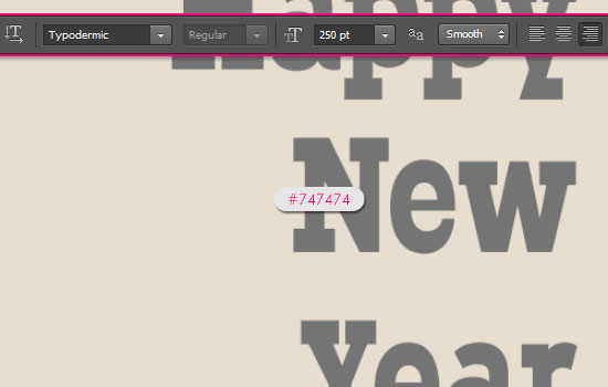 Simple New Year Typographic Poster Text Effect step 1