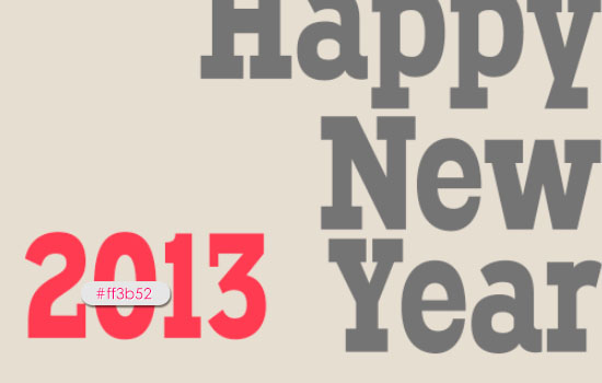Simple New Year Typographic Poster Text Effect step 3