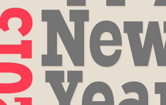 Simple New Year Typographic Poster Text Effect step 4