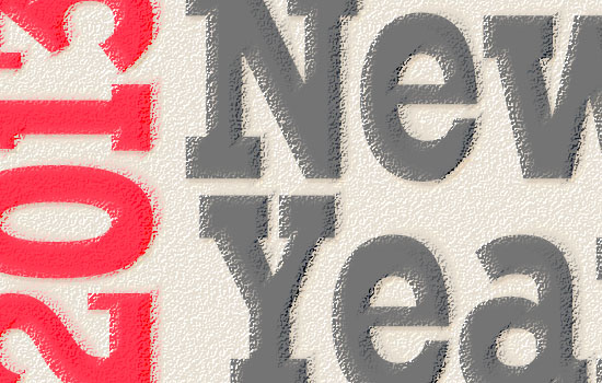 Simple New Year Typographic Poster Text Effect step 5