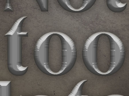 Old Decorated Metal Text Effect step 2