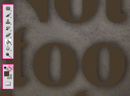 Old Decorated Metal Text Effect step 3