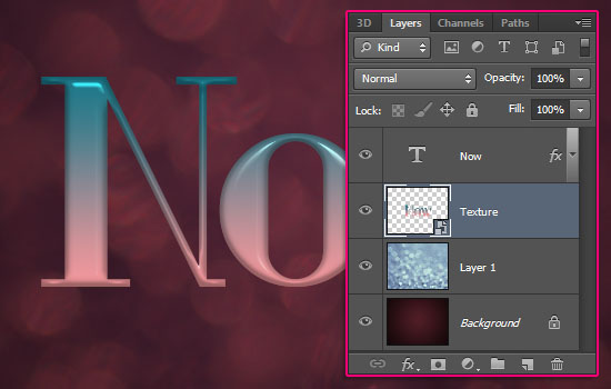 Ombre Text Effect step 5