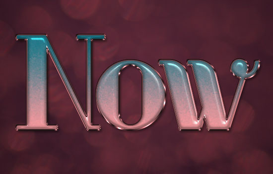 Ombre Text Effect step 6