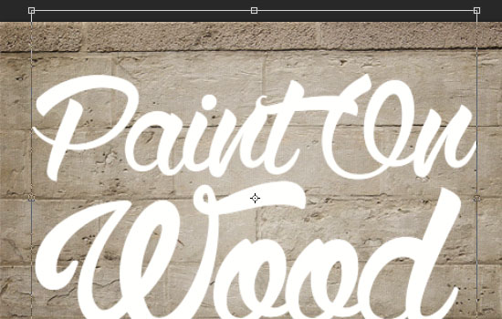 Paint On Wood Text Effect step 2
