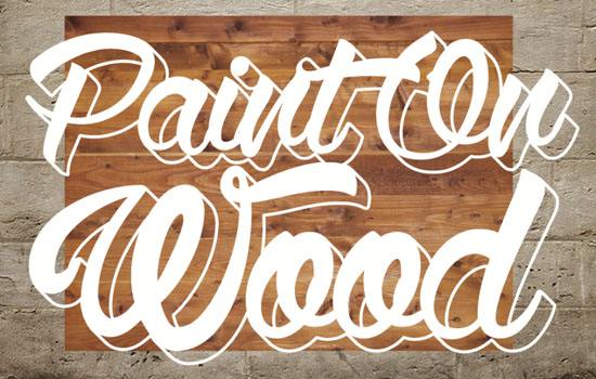 Paint On Wood Text Effect step 3