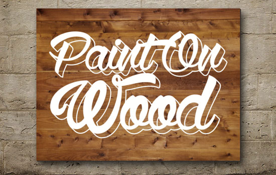 Paint On Wood Text Effect step 4