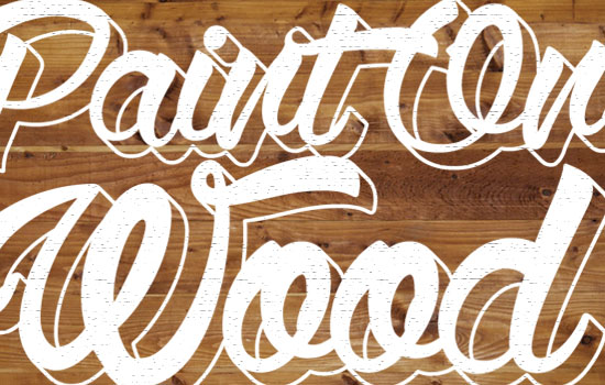 Paint On Wood Text Effect step 5