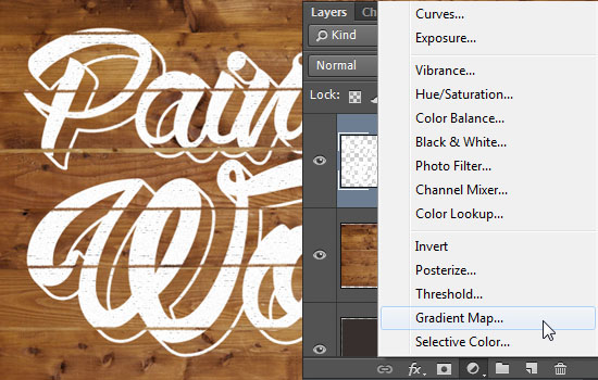 Paint On Wood Text Effect step 6