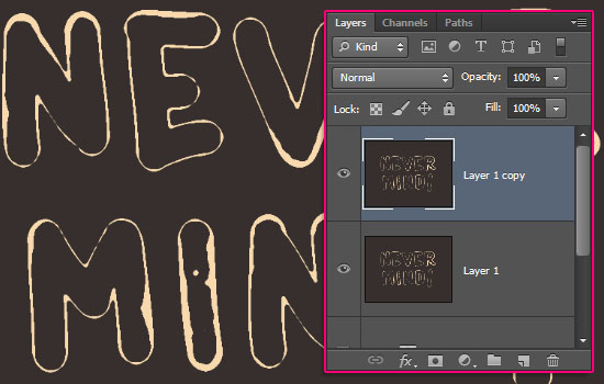 Paint Outliner Text Effect step 3