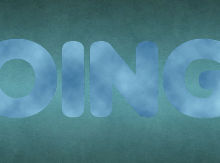 Particles Textured Text Glossy Effect step 3