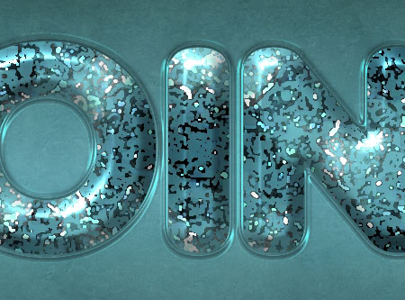 Particles Textured Text Glossy Effect step 4