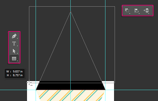 Pennant Banner Text Effect step 3