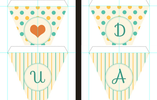 Pennant Banner Text Effect step 4