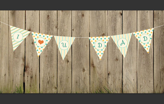Pennant Banner Text Effect step 5