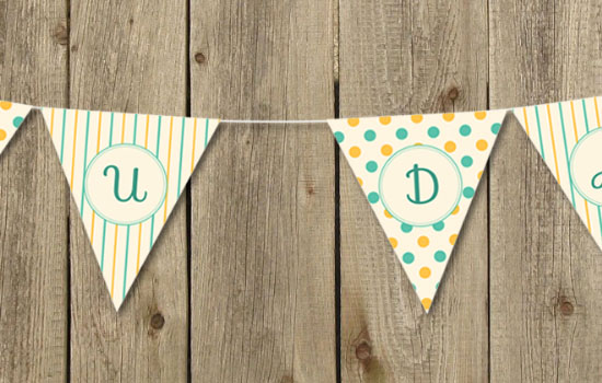 Pennant Banner Text Effect step 6