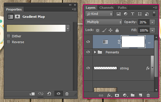 Pennant Banner Text Effect step 7
