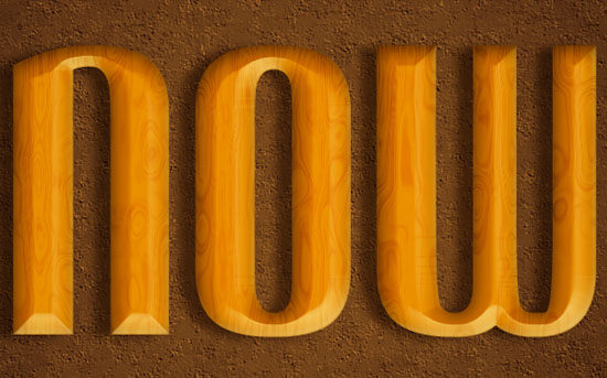 Polished Wood Text Effect