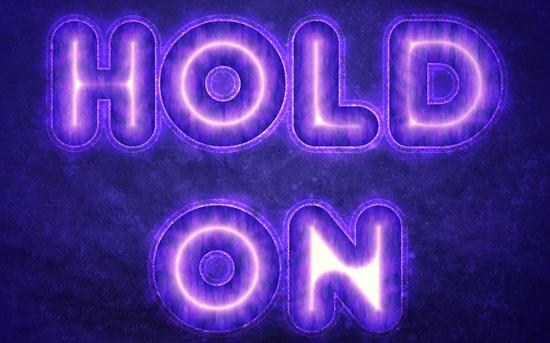 Purple Glow Text Effect