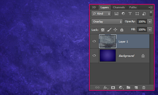 Purple Glow Text Effect step 1