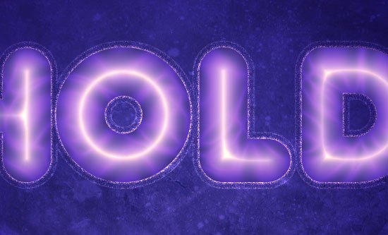 Purple Glow Text Effect step 2